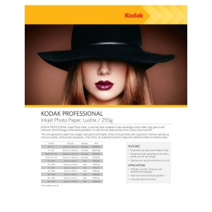 KODAK INKJET PROF. PHOTO PAPER LUSTRE/255G (20XA3+ SHEETS)