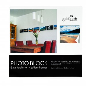 Goldbuch photo frame photo block black 20x20